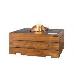 Cocoon Table Rechthoek Teakhout Antraciet + Gratis Gasdrukregelaar