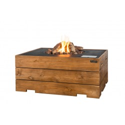 Cocoon Table Rechthoek Teakhout Zwart + Gratis Gasdrukregelaar