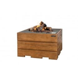 Cocoon Table Vierkant Teakhout Antraciet + Gratis Gasdrukregelaar