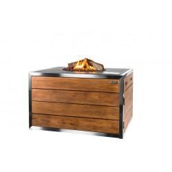 Cocoon Table Rechthoek Antraciet, RVS/Teak Lounge & Dining + Gratis Gasdrukregelaar