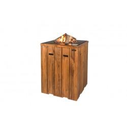 Cocoon Table Statafel Teakhout Antraciet + Gratis Gasdrukregelaar