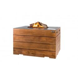 Cocoon Table Rechthoek Antraciet Teak Lounge & Dining + Gratis Gasdrukregelaar