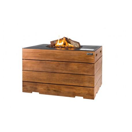 Cocoon Table Teak Lounge & Dining Rechthoek Zwart