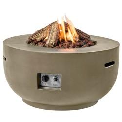 Happy Cocooning vuurtafel Bowl Taupe + Gratis Gasdrukregelaar