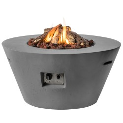 Happy Cocooning vuurtafel Cone Antraciet + Gratis Gasdrukregelaar